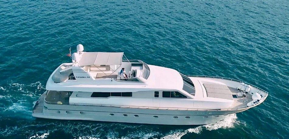 Мега Яхта Canados 27 метров из Тивата